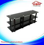 3 Schicht-Glas Fernsehapparat-Standplatz mit Kabel-Management