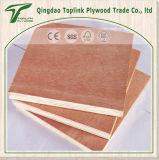 Tres Plys álamo Núcleo Rojo de madera de la cara / Volver Comercial Chapas de madera / muebles contrachapadas de Shandong Productor