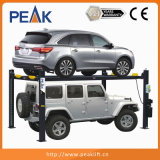Elevador hidráulico comercial do estacionamento com 4 colunas