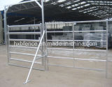 農場の塀: 容易にアセンブルされた携帯用Foldable電流を通された馬または牛またはヒツジまたは牛ヤードのパネル