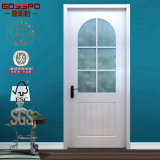 백색 색칠 유리제 삽입 실내 단단한 나무 문 (GSP3-016)