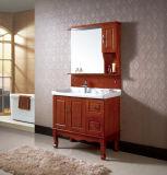Vanité en céramique de salle de bains de Furinture de salle de bains fixée au sol