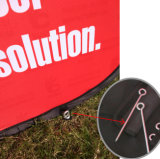 Das Dreieck-Bekanntmachen im Freien knallen oben eine Feld-Bildschirmanzeige-Fahne (SS-AB-17)