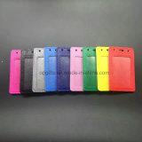 Nombre de encargo del PVC impermeable Placa titular de la tarjeta cuerda de seguridad correas