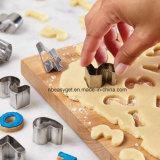 El conjunto de herramienta de la hornada del molde del cortador de la galleta de la galleta de la dimensión de una variable de las cartas de la panadería de la cocina del acero inoxidable 26 en 1 cortador del molde de la torta de la galleta de DIY pone letras a la dimensión de una variable Esgg10158 del alfabeto