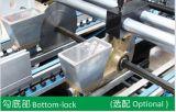 Automatische Unterseiten-faltender gewölbter Kasten, der Maschine (GK-1200/1450/1600AC) sich faltet, klebend
