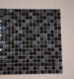 Mattonelle decorative della parete di figura della resina della miscela del nero di cristallo del mosaico quadrato