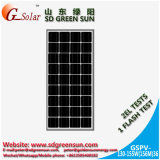 el mono panel solar de 18V 130W-155W para el sistema eléctrico solar