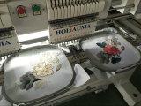帽子の衣服のためのHoliauma 2017の新しい2つのヘッドによってカスタマイズされる編む機械は刺繍に蹄鉄を打つ
