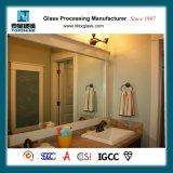 Framelessのホテルの部屋のための壁に取り付けられた浴室ミラー