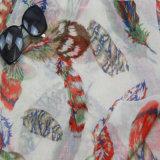 Sciarpa rossa di stampa, accessorio di modo dello scialle del poliestere delle donne