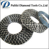 11mm 11.5mm Beads Diamond Rubber Wire Saw Corte molhado Pedra de mármore Pedreira difícil