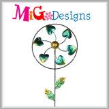 동물성 패턴 금속과 유리 정원 금속 말뚝