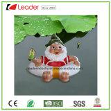 Figurine divertente di Gnome del giardino sul fungo per la decorazione di galleggiamento dello stagno