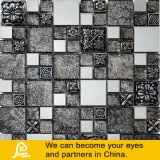 Mosaico de vidro do papel de parede da mistura da resina com pedra e metal