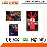 Configuração fácil P10mm Display LED interno transparente para parede de vidro