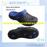 Customized Fashion Holey Men EVA Clogs, Durable Fashion EVA Clogs with Two To bush-hammer Colors