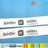 NTAG213 pulsera disponible del festival NFC TYVEK para ellos boleto del parque