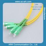 Connexion-Cordon optique de SM Dx de Sc-Sc G652D de fibre
