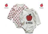 赤ん坊のOnesieの有機性印刷を用いる綿によって編まれる赤ん坊のロンパース