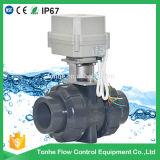 """2 """" 인치 2 방법 Dn50mm 24V NSF 승인되는 전기 자동화된 PVC 공 벨브"""