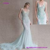 Платье вечера Mermaid уникально приукрашиваний Necklines шикарных стильное