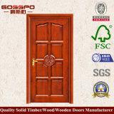Porte simple en bois massif de style européen (GSP2-015)