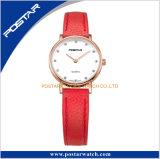 Montre résistante sensible de quartz de l'eau de bande d'usine de montre mince de bracelet