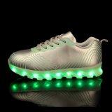 2016 zapatos respirables ligeros de los deportes de la manera LED para los hombres