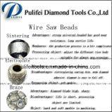 La sinterización electrochapa cubre con bronce el alambre del diamante consideró que los granos que cortaban la cuerda vieron