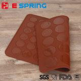 Heiße verkaufenzwei Seiten Macaron Backen-Matten-und Silikon-Formen für die Kuchen-Verzierung