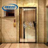 L'acciaio dorato dell'albergo di lusso ha inciso l'ascensore per persone dell'automobile 630kg