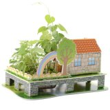 3D Jigsaw Puzzle Model Sweet Home mit Planting Flowers