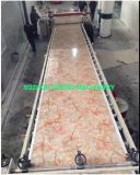 Equipamento decorativo de mármore artificial do PVC que faz a máquina