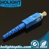 Azul de la PC SM 3.0m m del Sc del conector de la fibra