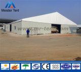 シャッタードアが付いている大きい屋外の鋼鉄産業保管倉庫のテントの玄関ひさし