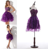 Heimkehr Dress trägerloses Mini Ball Gown Tulle PROM Dress mit Sequins Beading