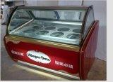 세륨을%s 가진 두 배 유리 아이스크림 내각