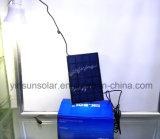 携帯用太陽ランプを運ぶ小さい球根9 Wの太陽電池パネル