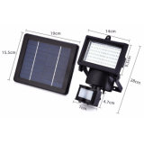 60 LED Solar Powered Security Light Sensor de mouvement LED Flood Light Lamp Lampe d'urgence montée sur le mur
