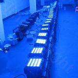 DMX 야외 무대 점화 20X12W RGBW 4in1 편평한 동위 LED
