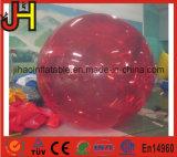 大人の娯楽のための赤いカラーPVC/TPU膨脹可能な水球