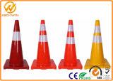 """Cono flessibile riflettente arancione solido di traffico del PVC di prezzi bassi 28 """""""