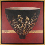 Картина искусствоа чашка китайского типа в деревянной рамке для декора