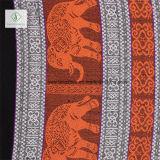 Écharpe estampée par éléphant mol de Madame Fashion Pashmina Shawl Népal