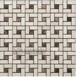 Mosaico di marmo naturale di Materil della costruzione di prezzi di fabbrica in Polished (FYSC101)