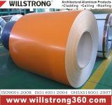 Bobine en aluminium enduite par couleur avec l'enduit de PE