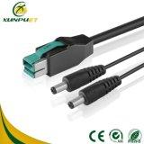 Câble nickelé d'ordinateur de pouvoir du lecteur de code à barres 24V USB
