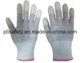 Перчатка безопасности волокна углерода с покрытием PU (PC8102)