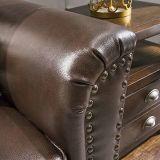 Sofá do couro da sala de visitas do estilo de América, sofá de Ikea (1704)